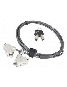 Câble de Sécurité - 2 clés - anti-vol pour Ordinateur Portable