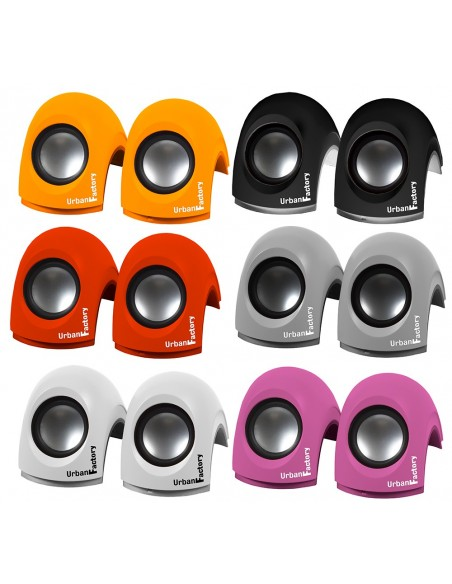 Crazy Speakers 2.0 - Mini speakers - USB 2.0 - WHITE