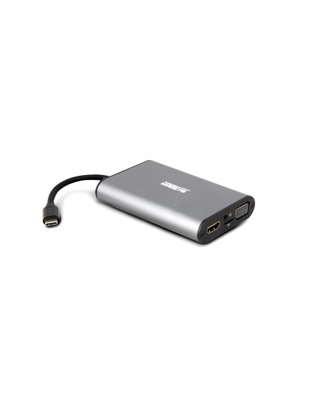 STATION MOBILE TYPE-C AVEC VGA/ HDMI 4K - GRIS SIDERAL
