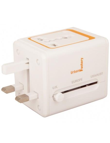 Urban International Plug - with 2,1 A USB charge port